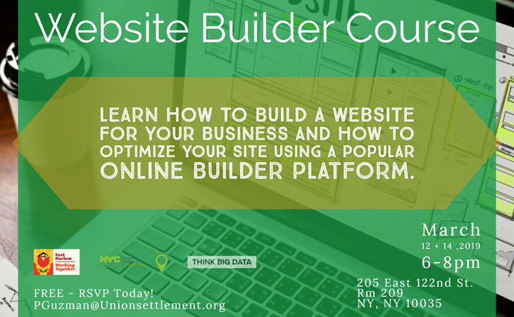 How to build a Website Course March 2019