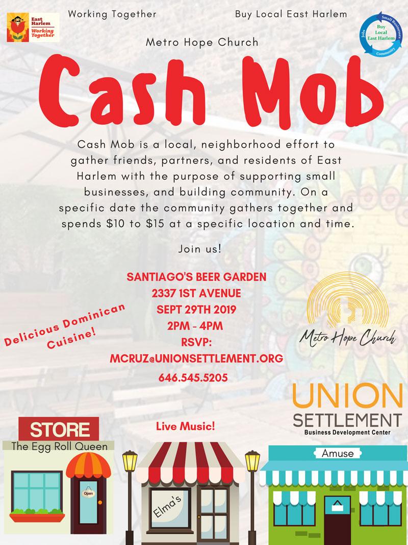 cash mob 9 29 19 Santiago's Beer Garden