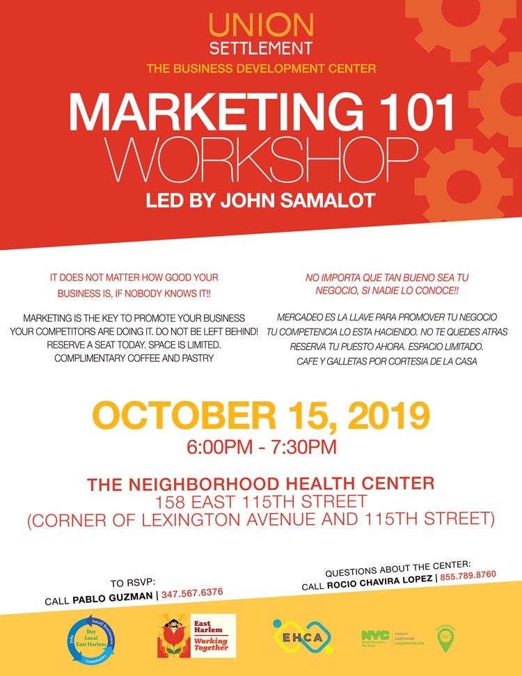 Workshop October Marketing 101 2019